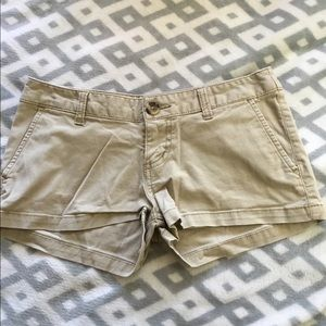 Pants - Blue and tan kaki shorts